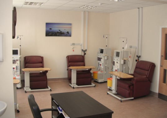 Inside the KC Dialysis Holiday Dialysis Centre Bournemouth
